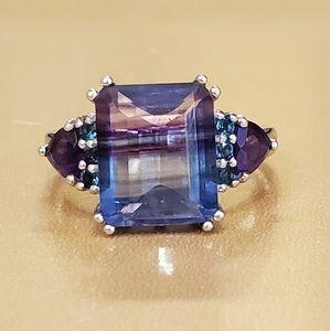 Bi - color fluorite ring